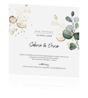 Botanisch save the night design met blad groen