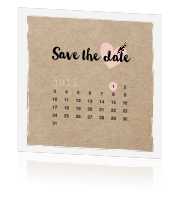Hippe enkele kraft save the date kaart kalender juli