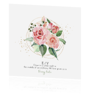Flower romance save the date met gedicht