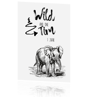 Gave verjaardag uitnodiging 'Wild and one'