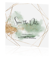 Prachtige save the date kaart met industrial look