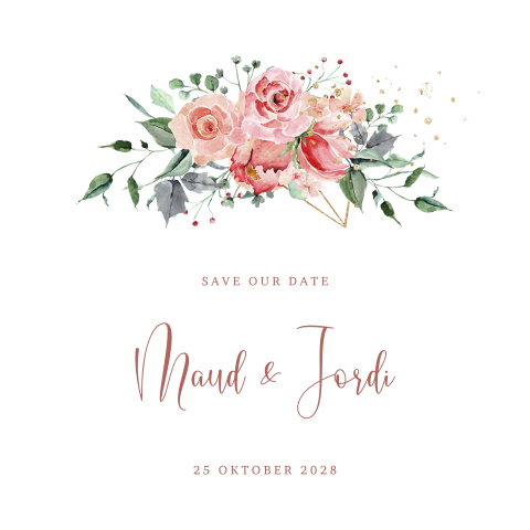 Industrial Romance save our date kaart