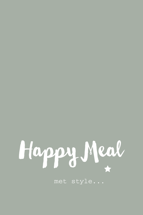 Kerst menukaart groen design - happy meal