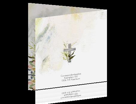 Spiksplinternieuw Liefdevol bidprentje met houten kruis en bloemen QL-29
