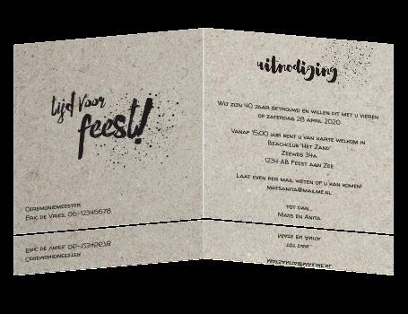 Huwelijk Uitnodiging Met Karton Print En Hippe Teksten