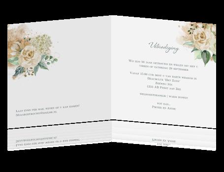 Uitnodiging Gouden Huwelijk Met Eigen Foto En Hortensia