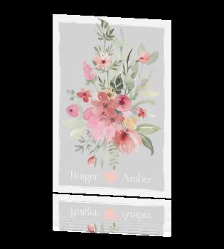 Enkele Uitnodiging Huwelijk Bohemian Stijl Waterverf Bloemen