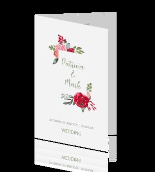 Romantisch Floral Chic Trouwkaart Bohemian Goud