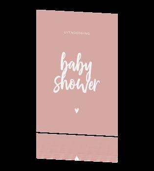 Populair Feestelijk uitnodiging voor een babyshower meisje &RG23