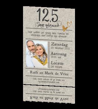 12 5 jarig huwelijk uitnodiging Enkele uitnodiging 12,5 jaar getrouwd lijn en kraft 12 5 jarig huwelijk uitnodiging
