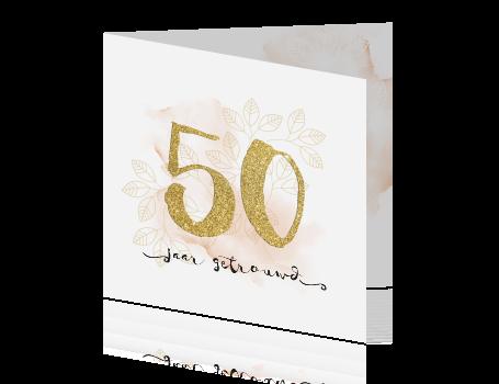 Top Gouden huwelijk uitnodiging met watercolor en sier fonts #WV16