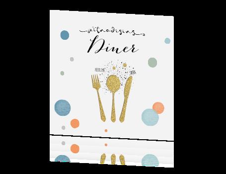 Vaak Feestelijke uitnodiging diner met confetti OQ43