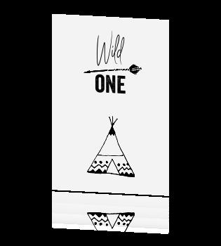 Zwart Wit Uitnodiging Kinderfeestje Met Tekst Wild One