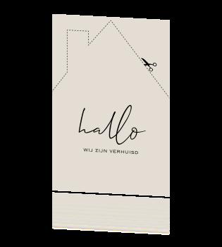 Fabulous Zwart wit verhuiskaart nieuwe woning uitknipkaart &AW84